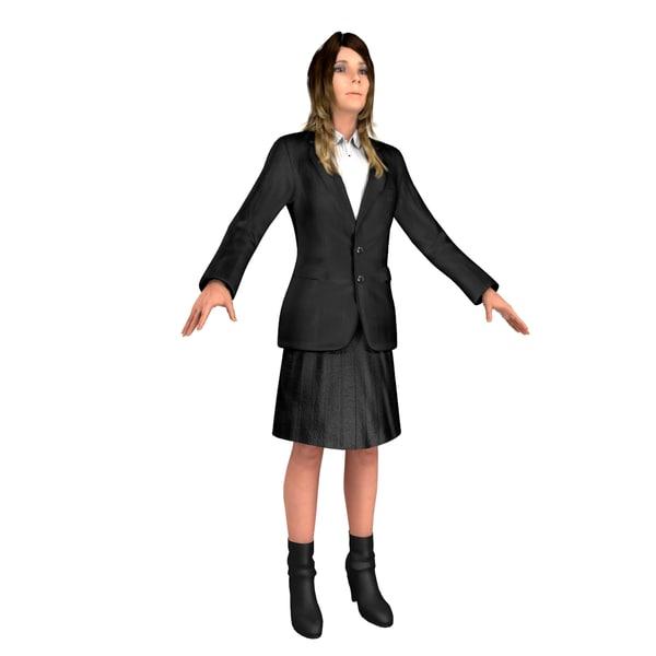 business woman body 3D model