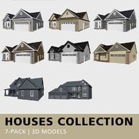 3D houses bay window