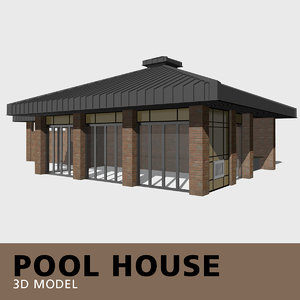 3D model pool house