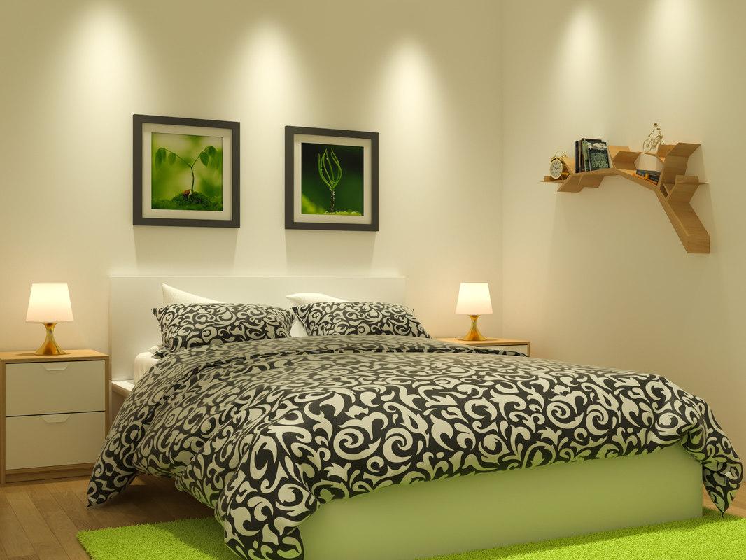 bedroom cozy study place 3D model