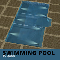 3D swimming pool model