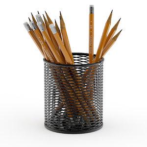 pencils cup model