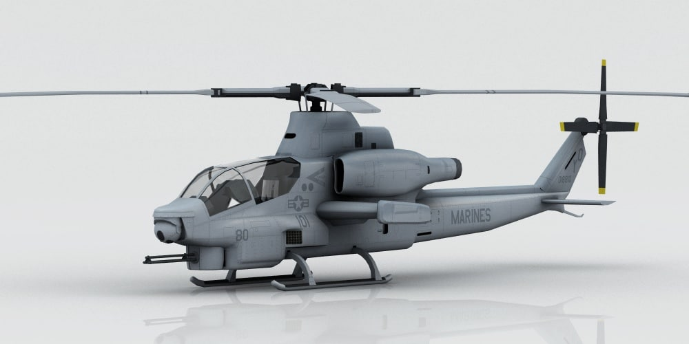 helicopter bell ah-1z viper 3D