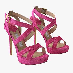 jimmy choo vamp sandals 3D