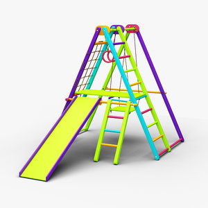 kid playground equipment playing 3D model