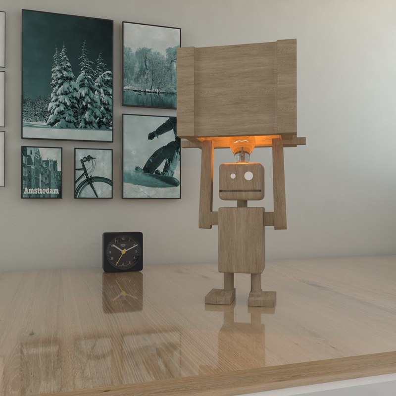 3D robot light lamp model