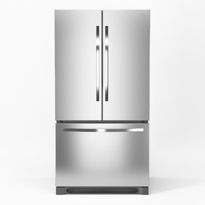 refrigerator kenmore french 3D model