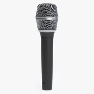 3D classic vocal microphone head