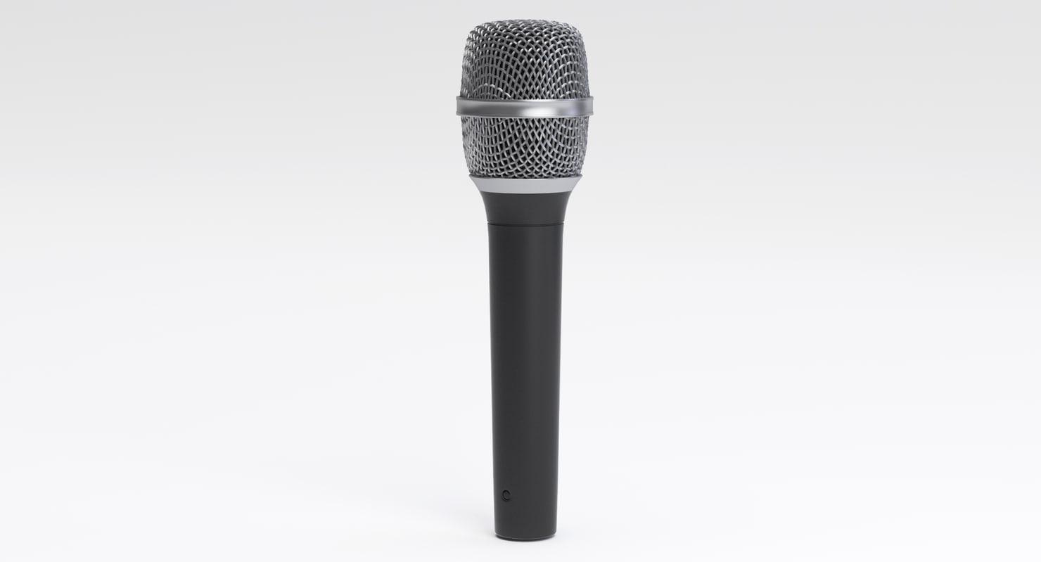3D classic vocal microphone head