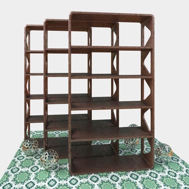 bookshelf design 3D model