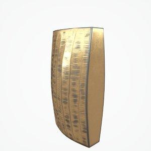 3D model carver brass narrow vase