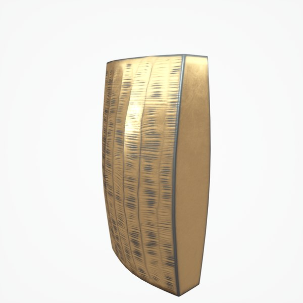 3D model carver brass narrow vase