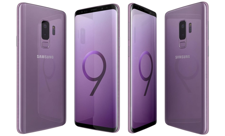 samsung galaxy s9 lilac 3D model