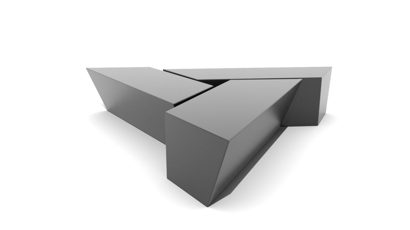 3D modern piece triangular coffee table