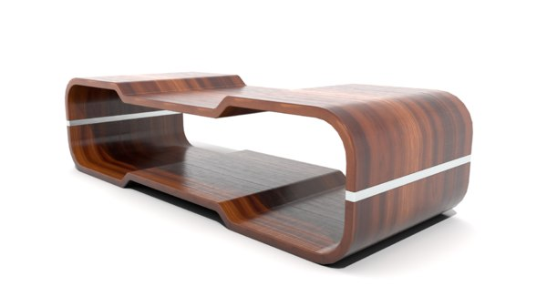 3D retro coffee table ridges
