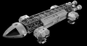3D space:1999 eagle transporter model
