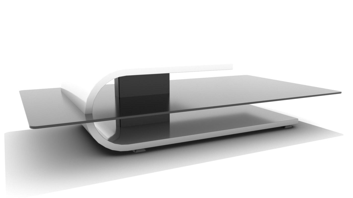 Modern Minimalist Tiered Coffee Table 3d