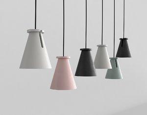 3D hanging lamps minimal