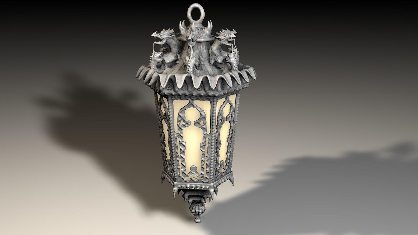 3D lantern dragon