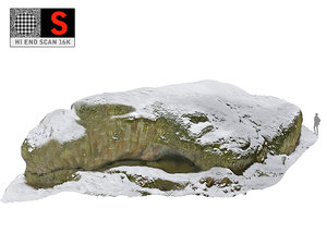 3D rock winter