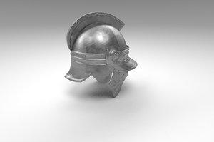 3D hellenistic greek helmet model