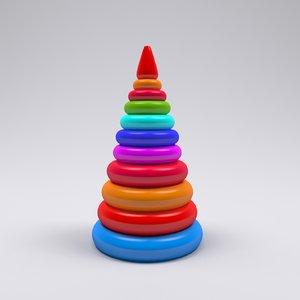 piramid toy 3D model