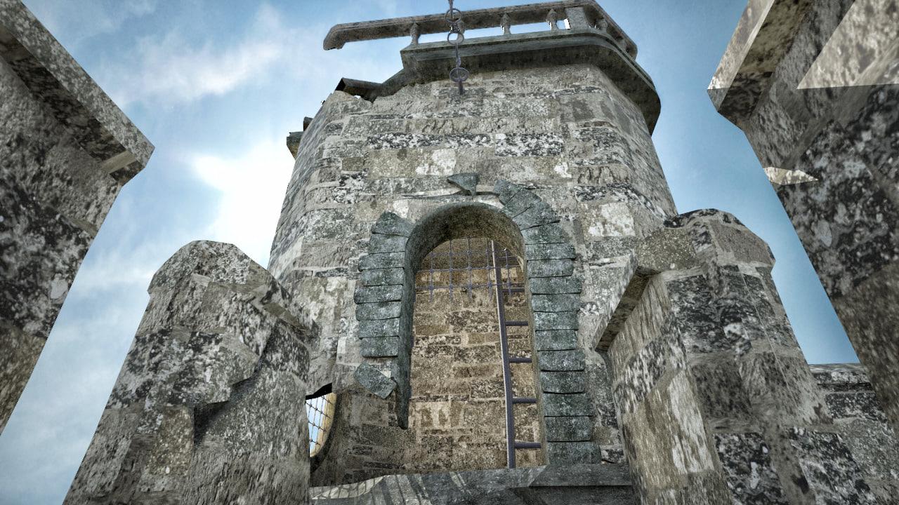 3D model castle walls