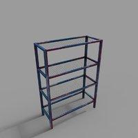 metal rack 3D