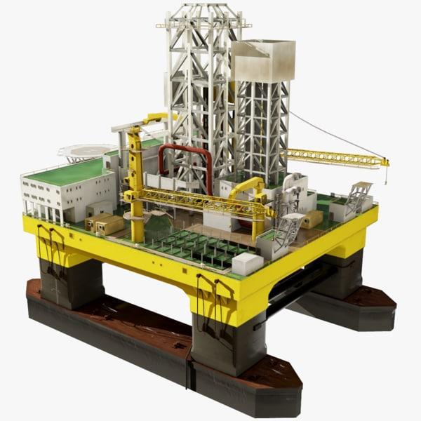 oil rig 3D model