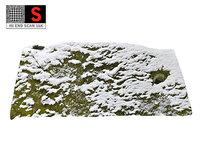 rock winter wall 3D model