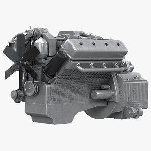 diesel v8 engine yamz 3D model