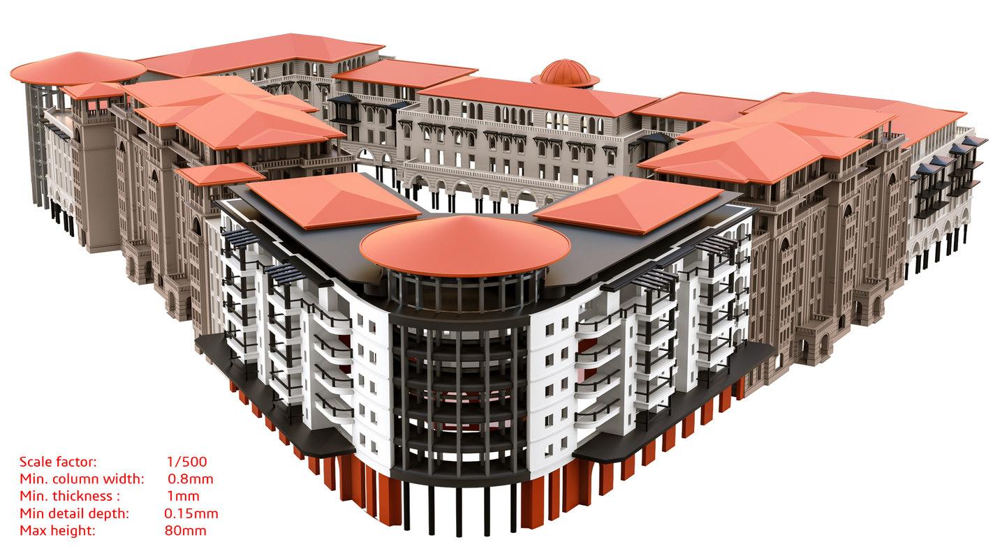 building facade 3D model