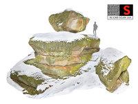 3D rock winter model