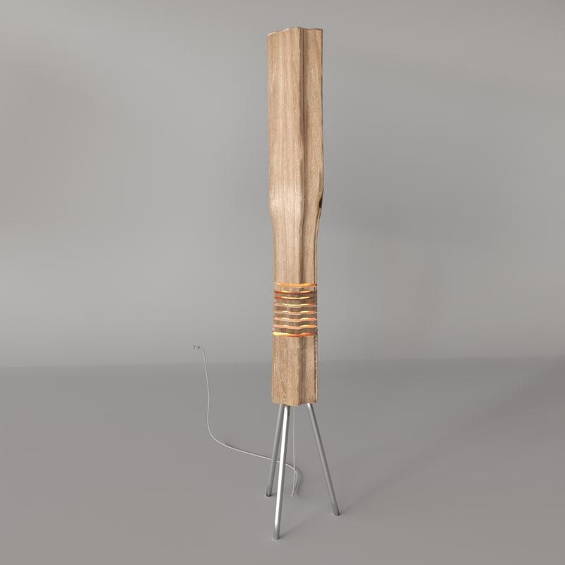 3D model light wood