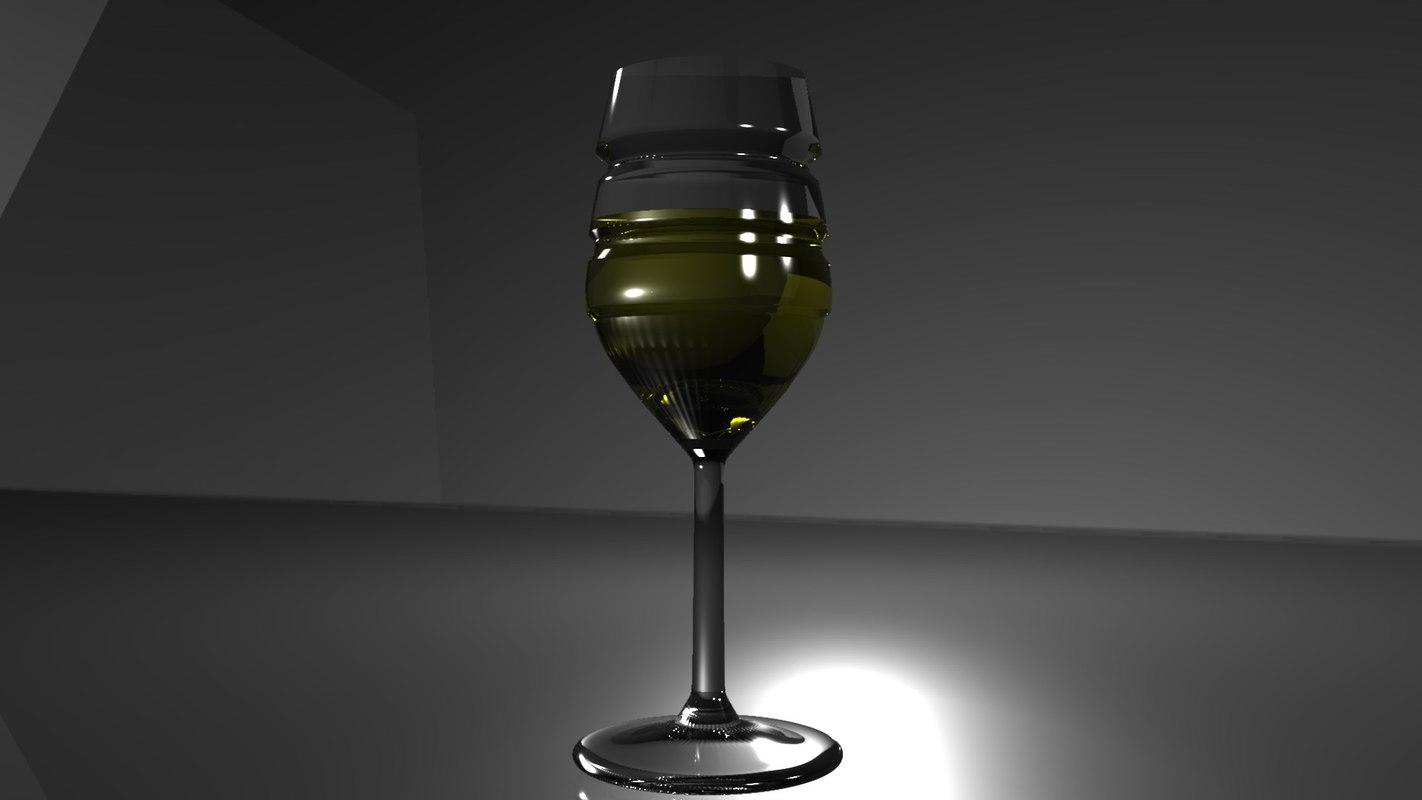 3D glass glossy model