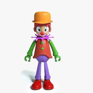 3D clown toy