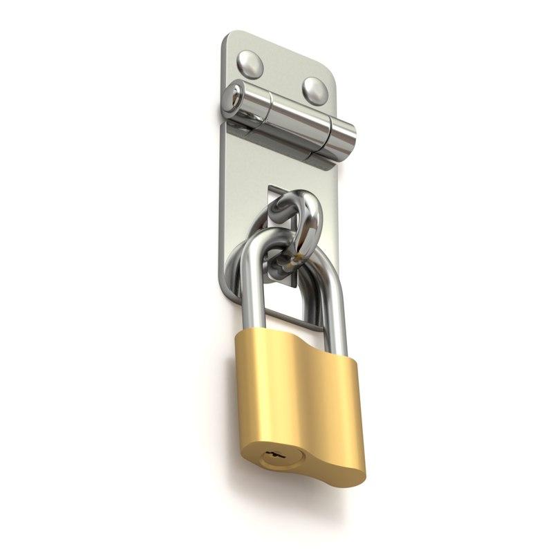 latch lock 3D model