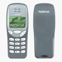 nokia 3210 phone 3D model