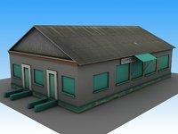 building railway station 3D model