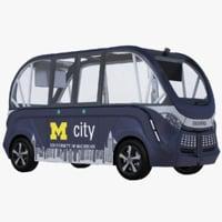 3D navya bus model