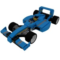 3D lego racing car