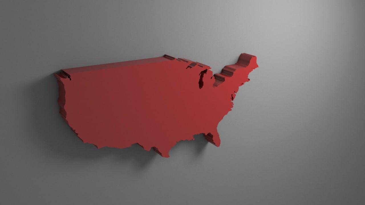 3D united states model