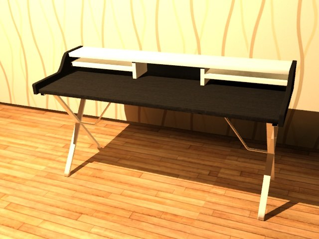 computer desk 3D