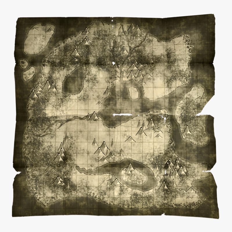 treasure maps 3D model