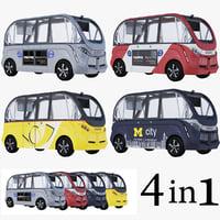 3D model navya bus