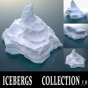 icebergs v h 3D