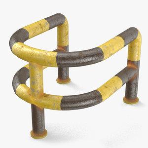 3D blocker metal block model