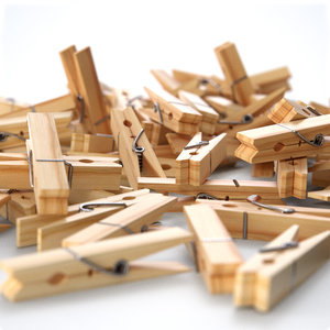 wooden clothespin model