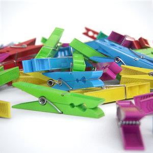 plastic clothespins 3D model