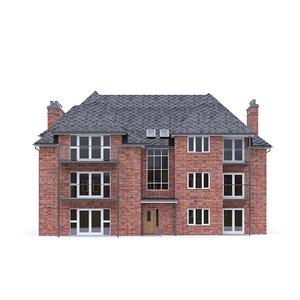 3D english brick house model